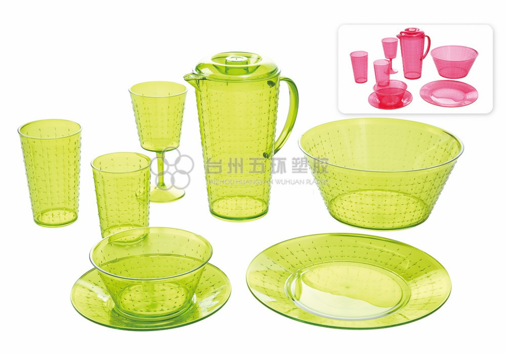 Green Clear PP Plastic picnic set