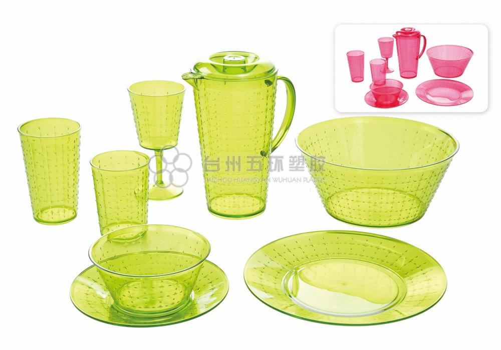 Green Clear PP Plastic picnic set