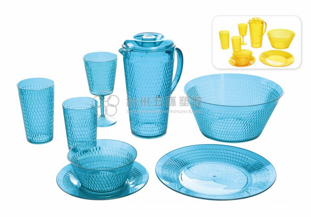 Blue Plastic picnic set