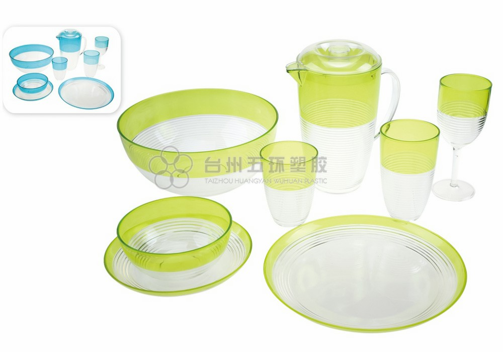 Plastic Green Transparent Big Bowls