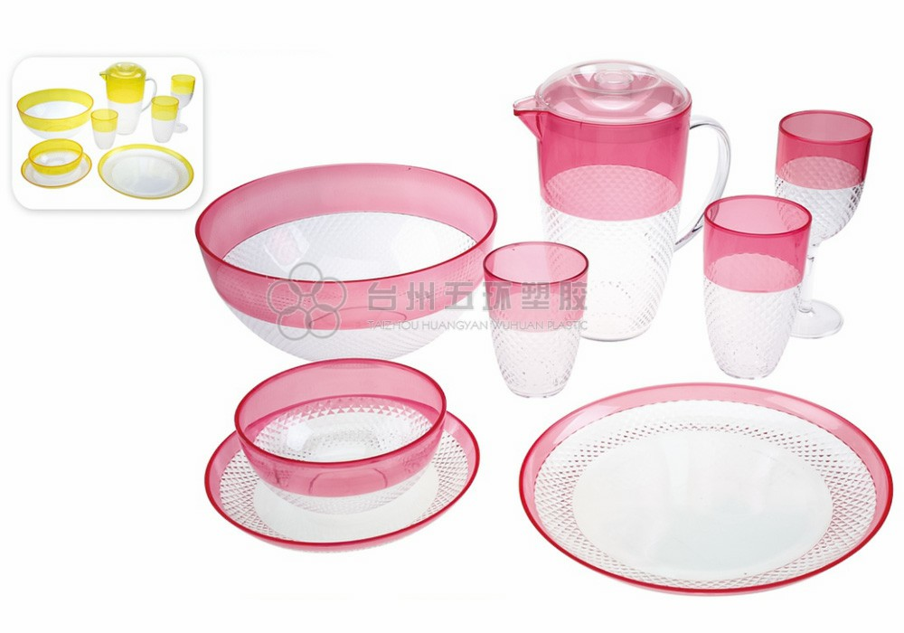 Plastic Pink Transparent Small Bowls