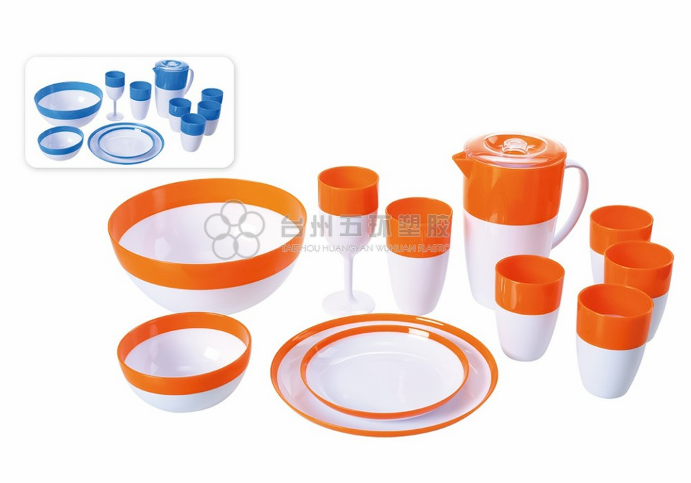 Plastic disposable picnic bowl