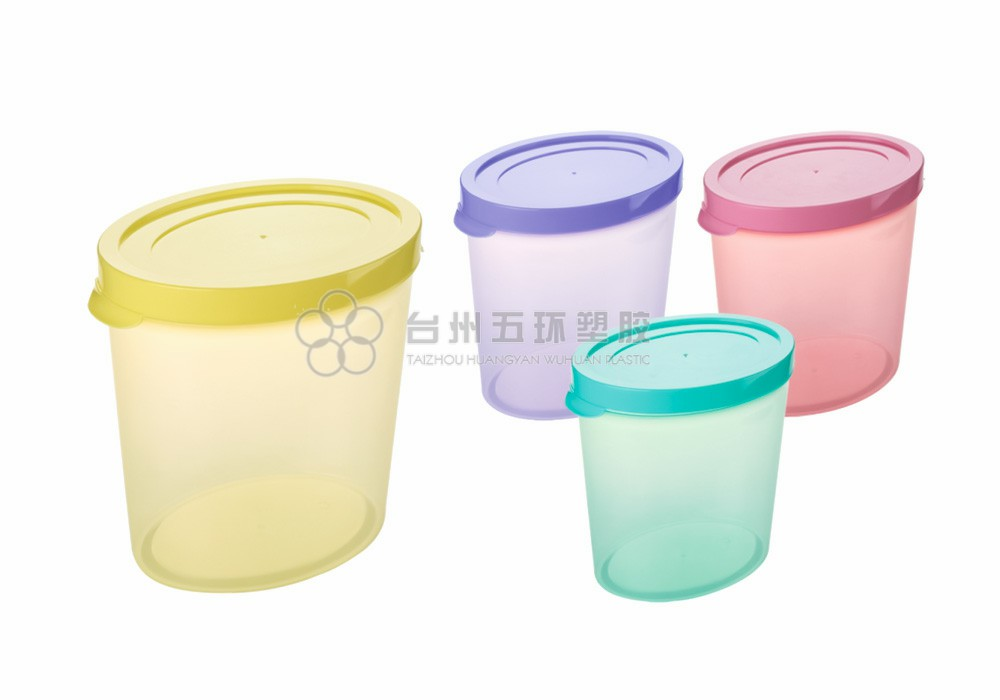 Plastic oval storage boxes/ bins