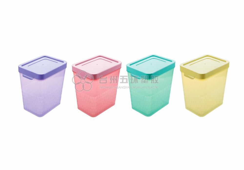 Plastic rectangular storage box