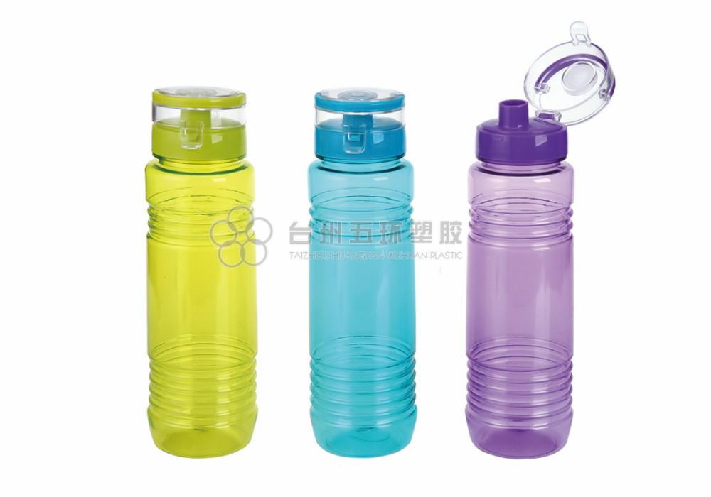 One click flip top lid wide mouth leak proof bottle