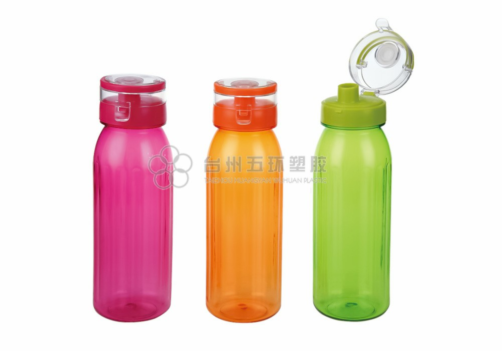 Plastic Water Bottle with Leak Proof Flip Top Lid