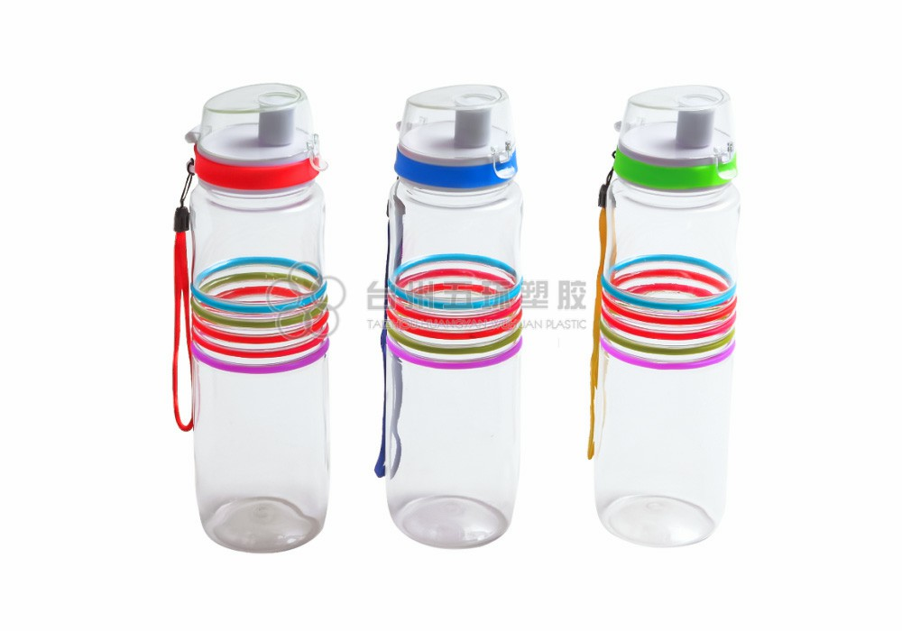 plastic sport drink water bottle with flip lid
