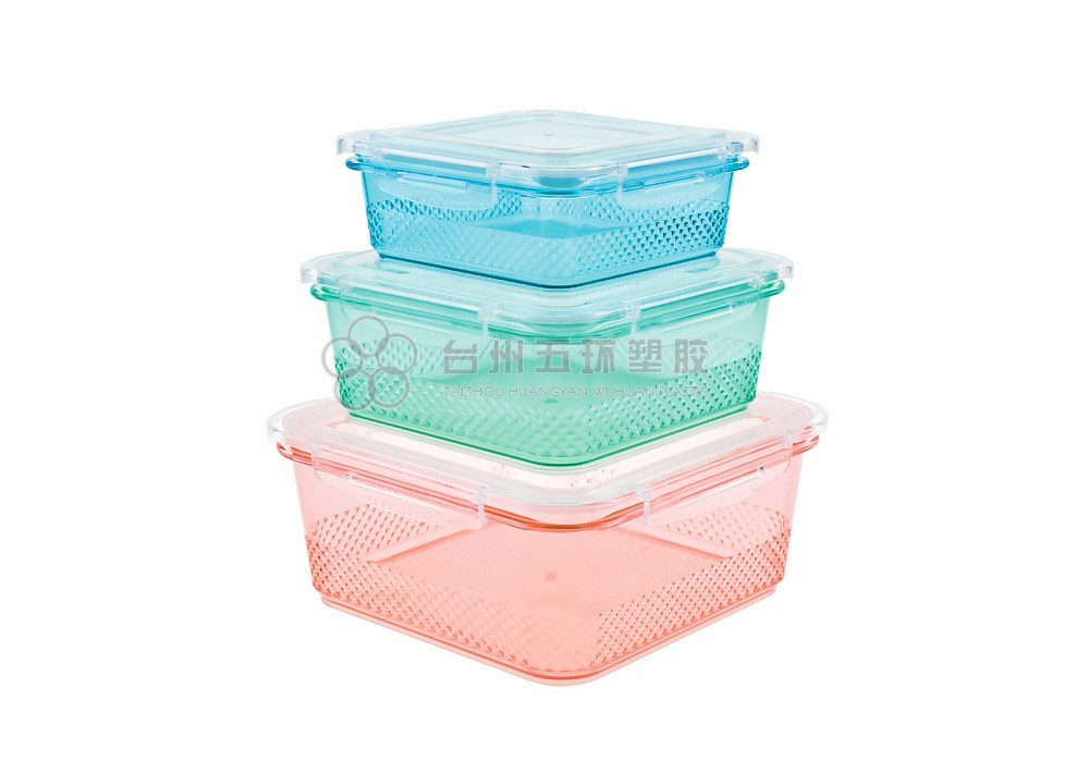 Plastic BPA Free 3 Pack Containers Sets
