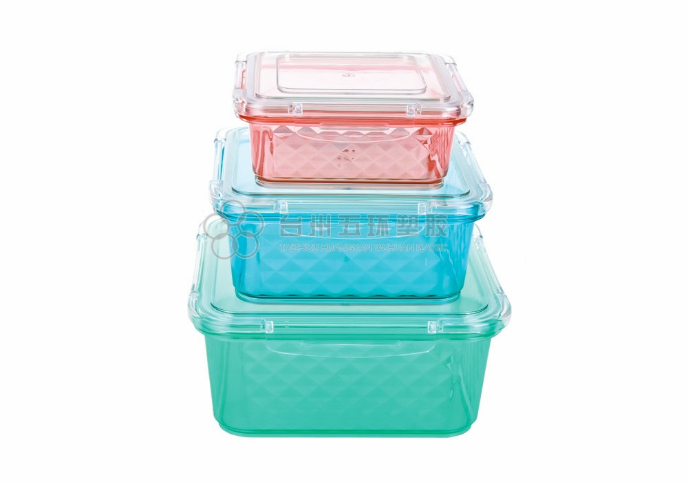 Plastic Airtight Stackable 3 Pack Containers Sets