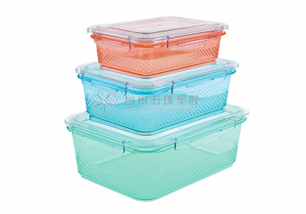 3PCS plastic food storage containers