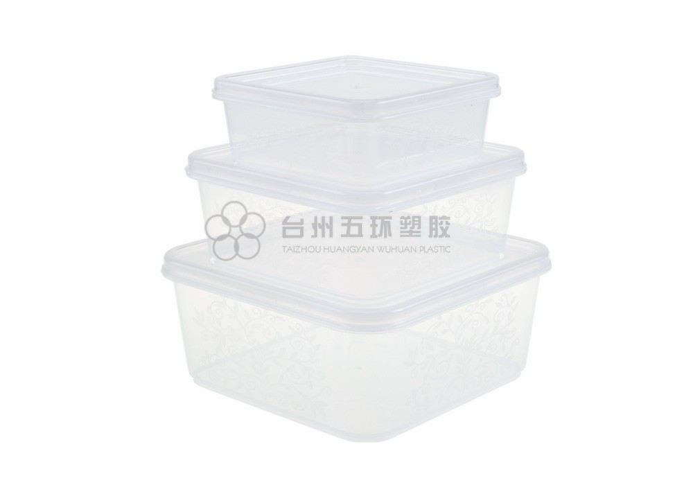 plastic clear food storage containers with lids