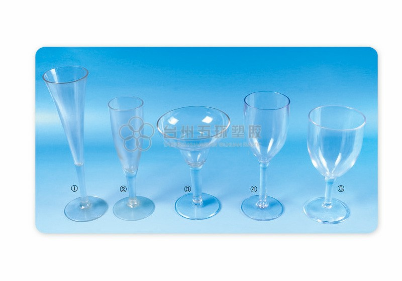 Wine glass Clear plastic goblets