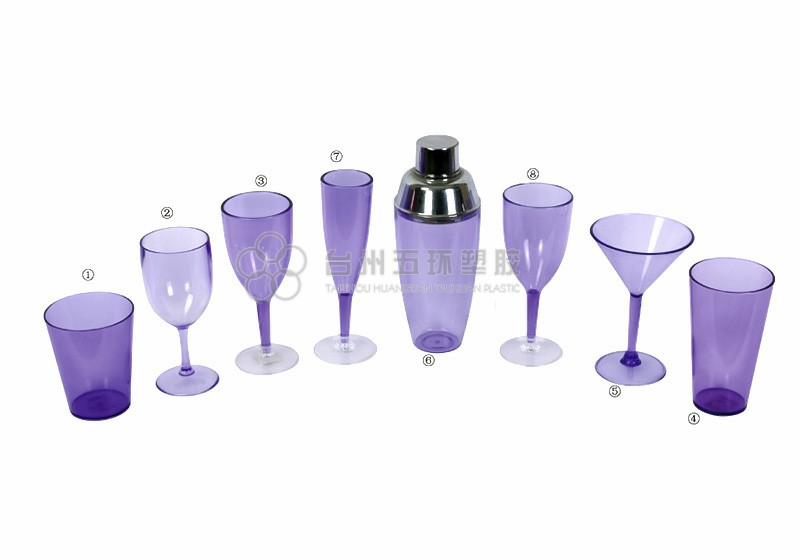 plastic wine tumbler set