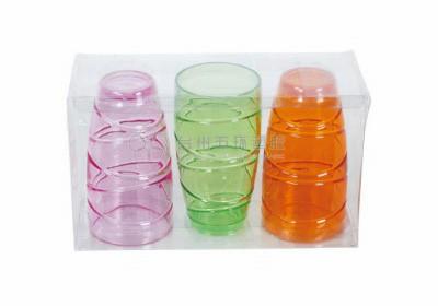 cheap plastic wine goblet round wine tumbler