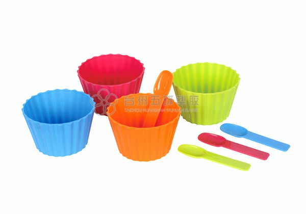 Four bowl and four spoon set series
