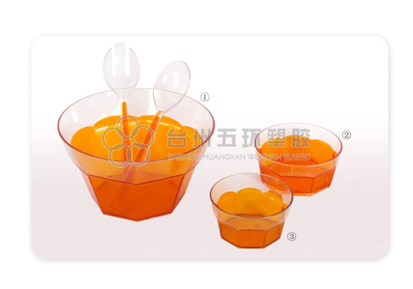 large plastic salad bowl clear