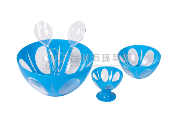 salad mixing bowl with two small bowls