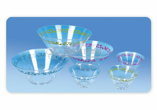 clear Salad bowl with printing