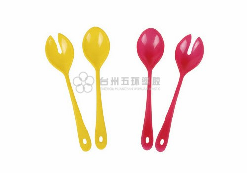 Plastic Salad fork and spoon
