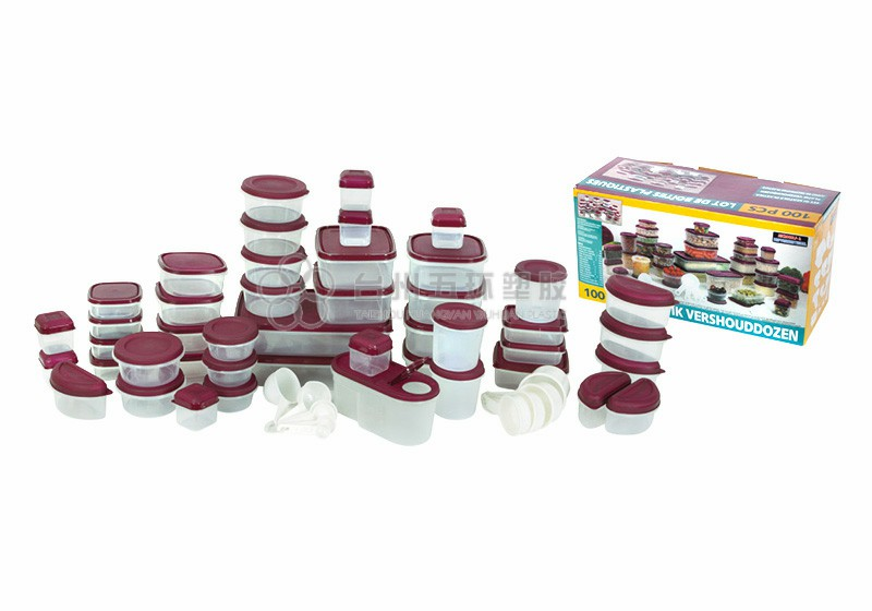 100pcs container set