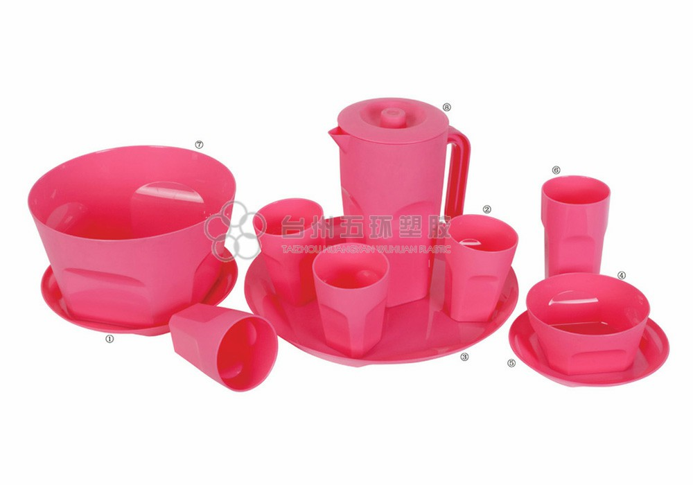 Plastic Pitcher set with lid