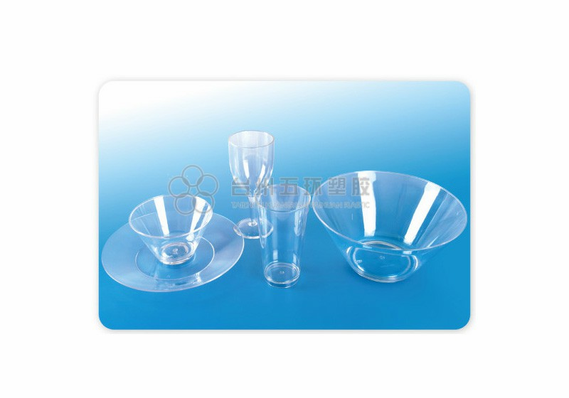 Wine glass and salad bowl sets