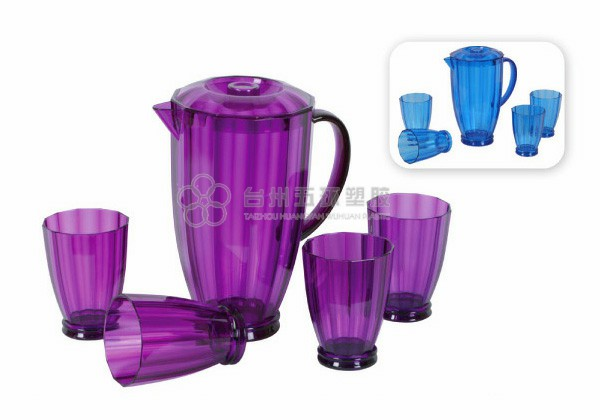 Plastic Water Pitcher Set
