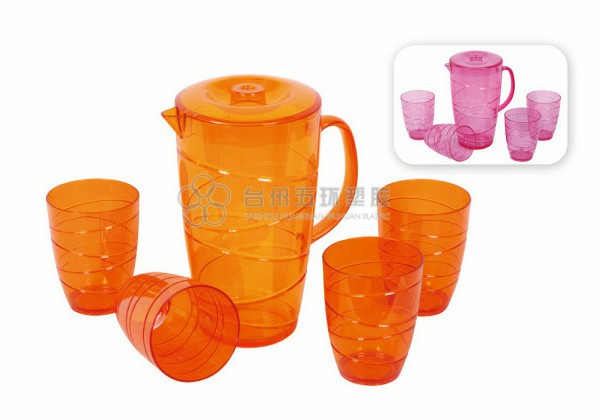 5 pcs plastic water pitcher set