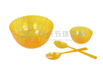 orange Transparent Plastic Bowl